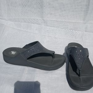 Fila womens sandals with cubic zirconia accent